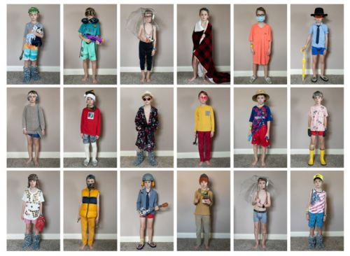 Portraits of My Son's Outfits for COVID-19 Homeschooling