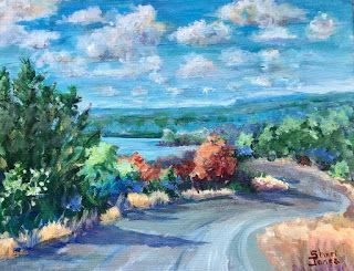 Contemporary Impressionistic Landscape Acrylic Original Oil Painting by Sheri Jones
