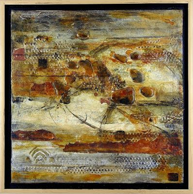 """Mixed Media Art, Organic Abstract, Contemporary Art, """"Metanoia"""" by Texas Contemporary Artist Sharon Whisnand"""
