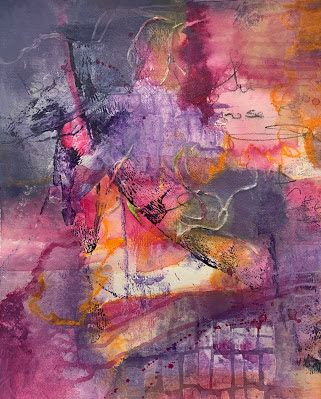 "Expressionism, Contemporary Art, Mixed Media Abstract Painting, ""Mixed Emotions"" by Contemporary Artist Tracy Lupanow"