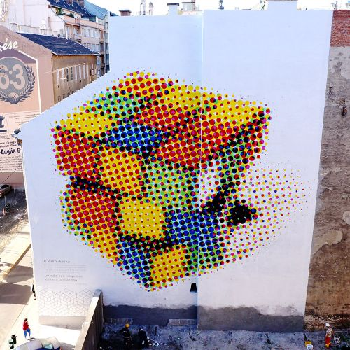 """""""Rubik Cube"""" by Neopaint Works in Budapest, Hungary"""