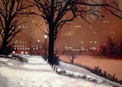 Central Park Winter Night