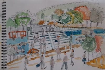 Sketches at the Sewon shopping center won bridge, SeJongro-gu,seoul