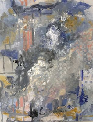 "Abstract Painting, Expressionist Art, Contemporary Art ""That Day in Central Park"" by Virginia Contemporary Artist Lou Jordan"