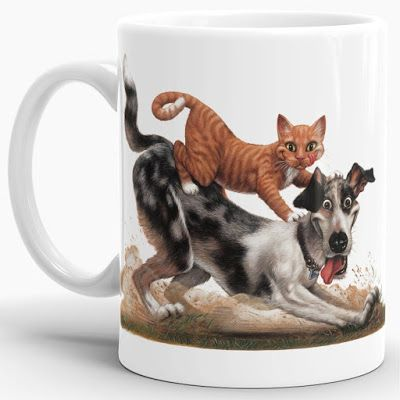 """CAT & DOG"" coffee mug"