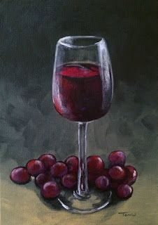 Day Ten of the 30 Paintings in 30 Days ~ Wine and Grapes
