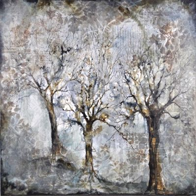 """Seasons"", Original Mixed Media Painting by Colorado Artist, Donna L. Martin"