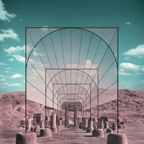 Iran's Cultural Site Persepolis Reimagined through Minimalist Frames