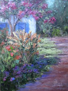 Contemporary Impressionistic Palette Knife Plein Air Oil Painting by Sheri Jones