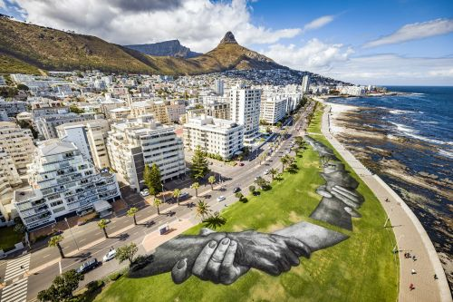 """Beyond Walls"" by SAYPE in Cape Town, South Africa"