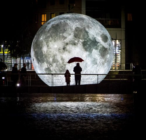 The Museum of the Moon: An Illuminated 23-Foot Lunar Replica Currently Touring the World