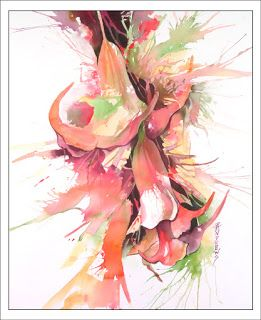 Hawaiian Stunners..Watercolor.. Texas Artist..Rae Andrews