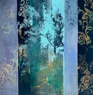 "Contemporary Landscape, Painting, Abstract Art ""Forest"" by Intuitive Artist Joan Fullerton"