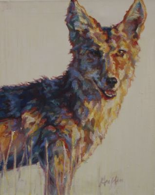 "Contemporary Western Wildlife, Art Painting ""Wolf"" by Contemporary Animal Artist Patricia A. Griffin"