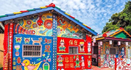 Rainbow Village: An Entire Community in Taiwan Hand-Painted by a Single Man