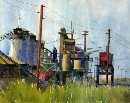 Watercolor: Copper Mine and artistic influence from your family tree