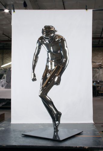 The Human Figure Takes Shape in New Steel, Graphite, and Gypsum Sculptures by Emil Alzamora