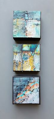 "Mixed Media, Contemporary Abstract Art ""SMALL MOUNTAIN CAPES II"" by Contemporary Artist Gerri Calpin"