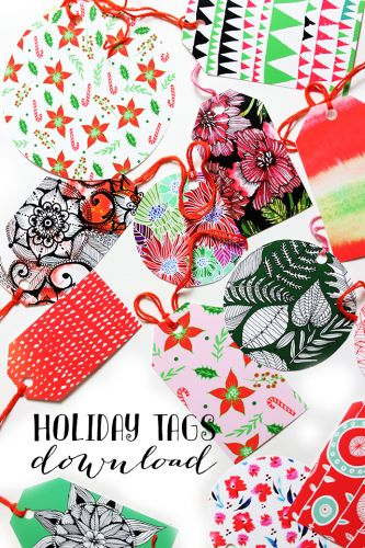 FREE DOWNLOAD: colorful gift tags