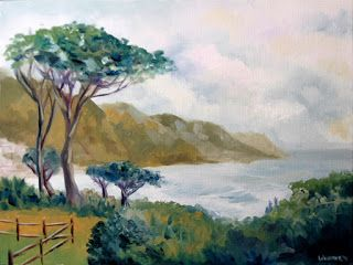 Mark Webster - Lower Kloof Road, Cape Town, South Africa Oil Painting