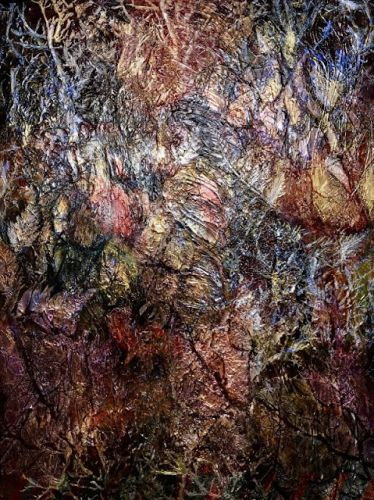 "Mixed Media Painting, Contemporary Art, Abstract, Textured Art ""Walk With Me"" by Contemporary Artist Liz Thoresen"