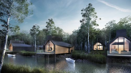Scott Brownrigg Designs Wellness Retreat and Visitor Center in Scotland