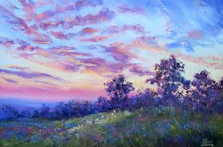 Sunrise in Style, New Contemporary Landscape Painting by Sheri Jones