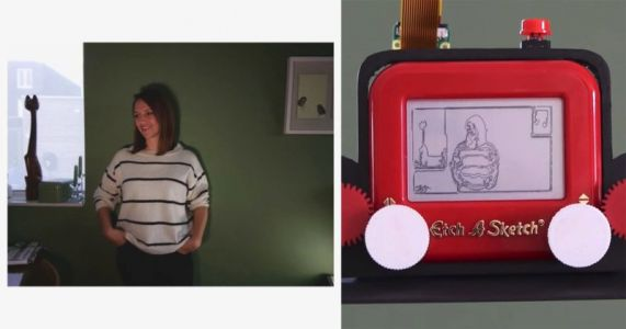 The World's First Etch A Sketch Camera