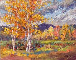 """Autumn Awakening"" by Contemporary Impressionist Niki Gulley"
