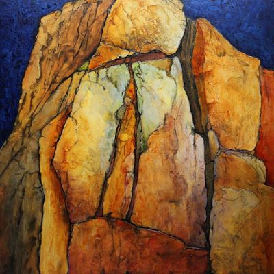 """Geologic Abstract Painting, """"Pinnacle"""" by Carol Nelson Fine Art"""
