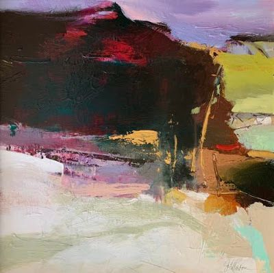 "Contemporary Abstract Landscape Art Painting ""Walk With Me"" by Intuitive Artist Joan Fullerton"