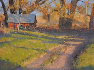 "DPW Auction: Old Milk House - pastel - 12""x16"" - SOLD!"