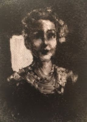 Mrs. Kelly - An Amusement in Monotype - a reductive method monotype plate