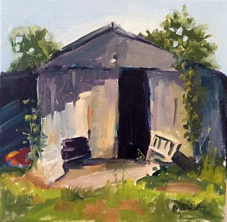Learning how to paint - The Shed