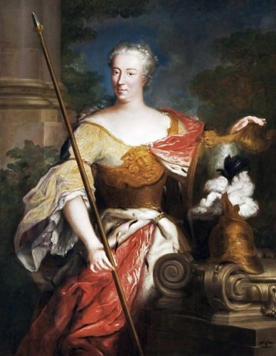 18C Gentlewomen as the Goddess Minerva of War, the Arts, & Wisdom