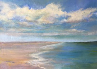 "Contemporary Beach Landscape, ""Beach,"" by Amy Whitehouse"