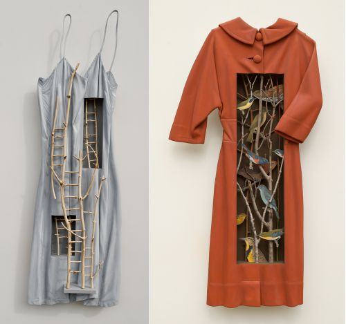 Natural Elements Emerge from Vintage Garments in Trompe L'oeil Sculptures by Artist Ron Isaacs