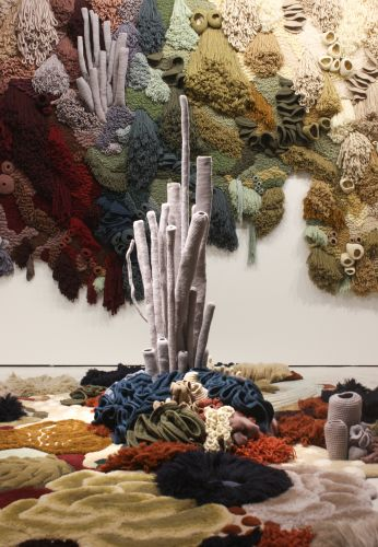 Deadstock Rug Materials Transformed into an Immersive Coral Garden by Vanessa Barragão