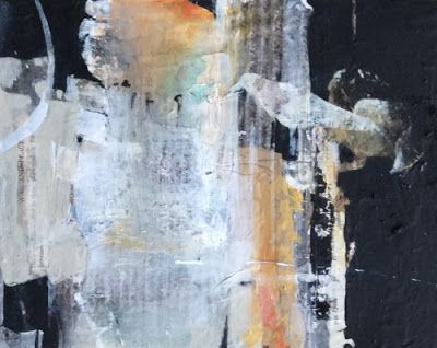 """Abstract Mixed Media Painting """"Inspiration Restoration"""" by Intuitive Artist Joan Fullerton"""