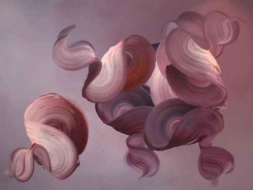 Dimensional Swirls Appear to Lift Off the Canvases of Painter Dragica Carlin
