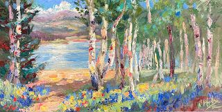 Painting Lupines along the Lake with Contemporary Impressionist Niki Gulley
