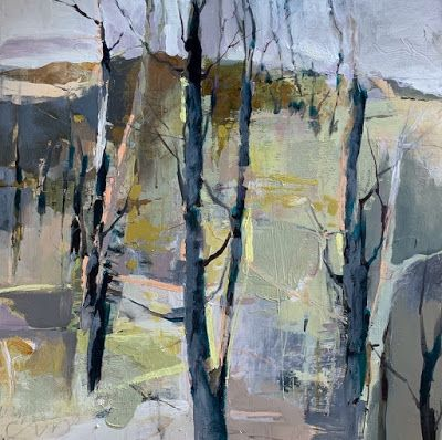 Abstract Landscape Art, Trees, Mixed Media, Contemporary Art