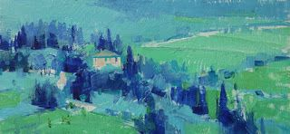 """Tuscany in Blue"""