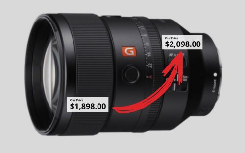 Sony Quietly Raised the Price of the 135mm f/1.8 GM Lens by $200