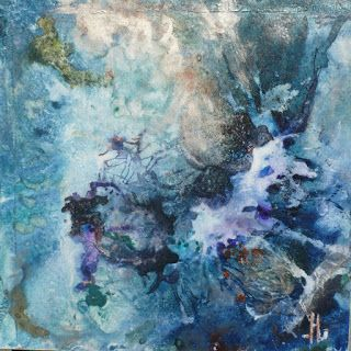 "Abstract Watercolor Painting ""DARK ENERGY"" by Lou Jordan"