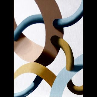 Mark Webster - Biomechanical Abstract Geometric Oil Painting 3