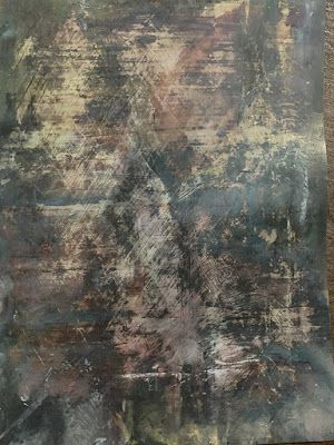 """Abstract Mixed Media Art, Contemporary Painting, """"WITHIN THE SHADOWS"""" by Florida Contemporary Artist Mary Ann Ziegler"""