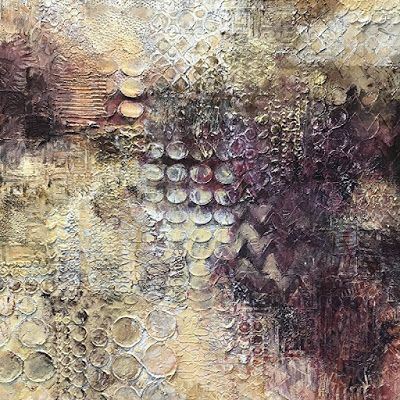 "Mixed Media, Contemporary Art, Abstract Painting, Expressionism, ""KEEPING PACE"" by Contemporary Artist Liz Thoresen"