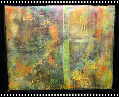 "Encaustic Abstract Art, Mixed Media, Contemporary Painting, ""Just Sayin"" by Texas Contemporary Artist Sharon Whisnand"