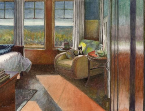 Inspired by Bonnard - Painting Interior Scenes in Watercolor